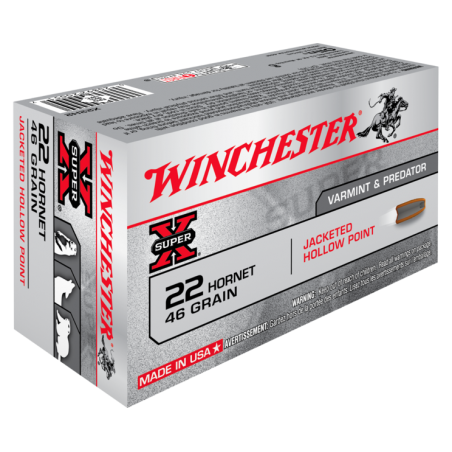 WINCHESTER, 22 HORNET, HOLLOW POINT, 2.98g/46grs (50szt.)