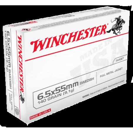 WINCHESTER, 6.5x55, FULL METAL JACKET 9.07g/140grs (20szt.)