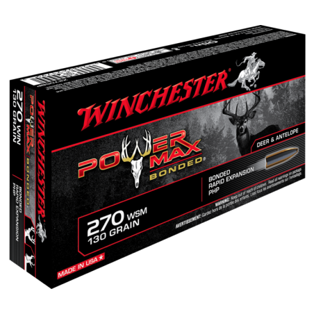 WINCHESTER, 270Win, POWER MAX BONDED 8.42g/130grs (20szt.)