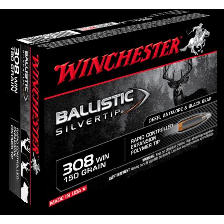 WINCHESTER, 308Win, BALLISTIC SILVERTIP 9.72g/150grs (20szt.)