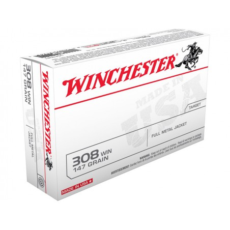 WINCHESTER, 308Win,FULL METAL JACKET 9.53g/147grs (20szt.)