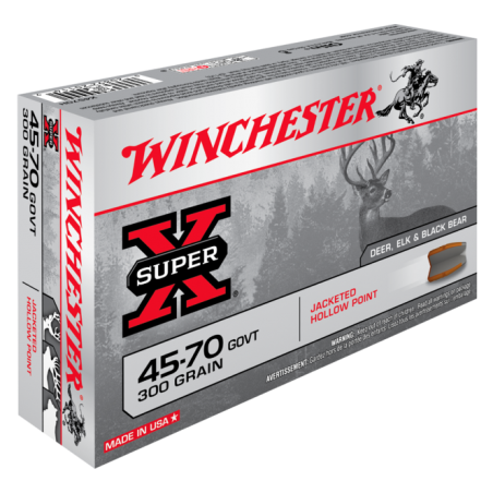 WINCHESTER, 45-70GVT, JACKETED HOLLOW POINT 19.44g/300grs (20szt.)