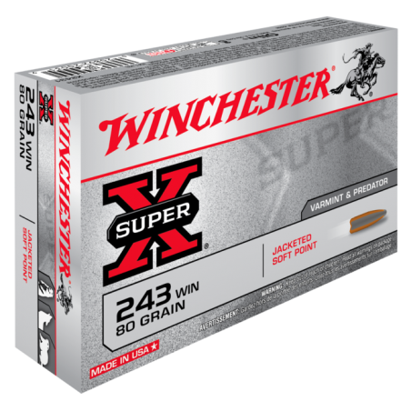 WINCHESTER, 243Win, POWER POINT 5.18g/80grs (20szt.)