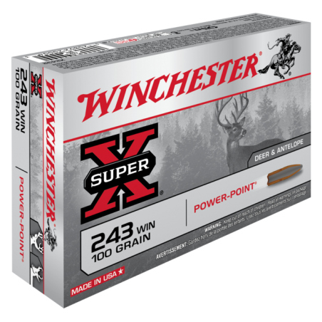 WINCHESTER, 243Win, POWER POINT 6.48g/100grs (20szt.)
