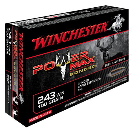 WINCHESTER, 243Win, POWER MAX BONDED 6.45g/100grs (20szt.)
