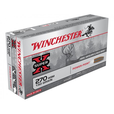 WINCHESTER, 270 WSM, POWER POINT 9.72g/150grs (20szt.)