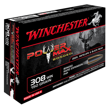 WINCHESTER, 308Win, POWER MAX BONDED 9.72g/150grs (20szt.)