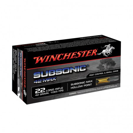 WINCHESTER, 22LR,SUBSONIC MAX,HP 2.72g/42grs (50szt.)
