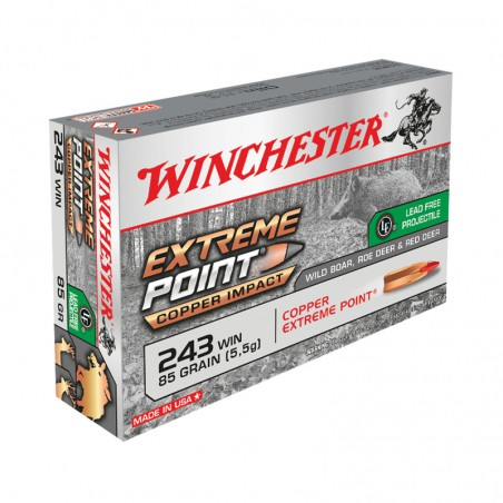 WINCHESTER, 243Win, EXTREME POINT LEAD FREE 5.51g/85grs (20szt.)