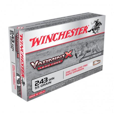 WINCHESTER, 243Win, VARMINT X LEAD FREE 3.56g/55grs (20szt.)