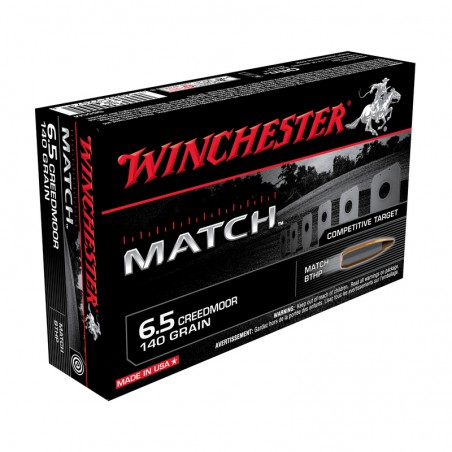 WINCHESTER, 6.5Creedmor, BOAT TAIL MATCH 140grs (20szt.)