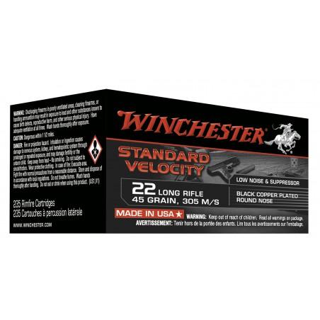WINCHESTER, 22LR,STD VELOCITY,BLACK CP LRN 45grs (235szt.)