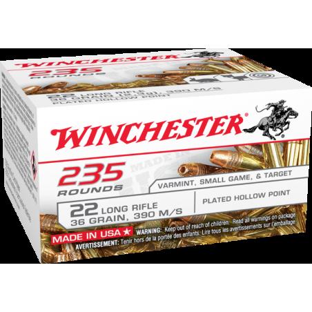 WINCHESTER, 22LR,SUPER-X, HP COPPER PLATED, 2.33g/36grs (235szt.)
