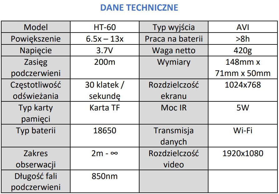 CYFROWY NOKTWIZOR SYTONG HT-60 dane techniczne