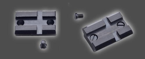 zdjecie stalowych baz montażowych do broni, które są w komplecie z bronią